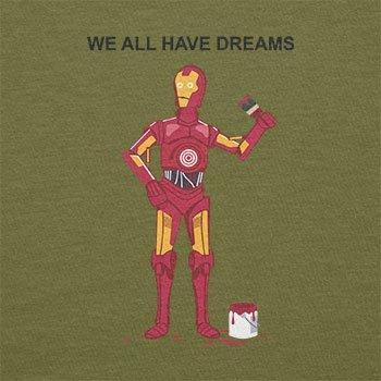 Texlab–We All Have Dreams–sacchetto di stoffa Oliva