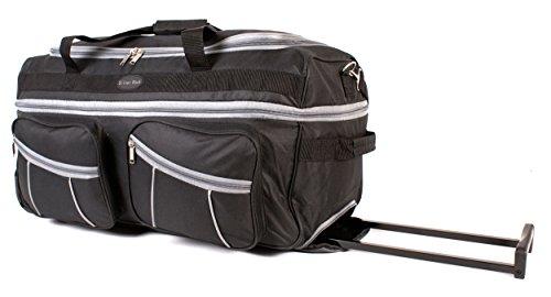 Ks-ex-100 68,6 cm Noir Gris extensible Grande taille sac à roulettes Sac de voyage