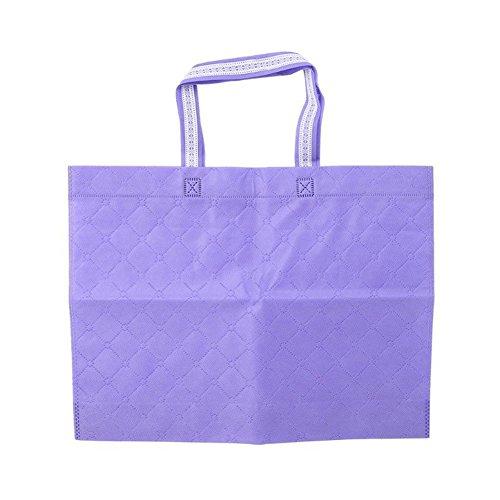 good01 pliable réutilisable Grande contenance supermarché respectueux de l'environnement Sac fourre-tout, violet, M