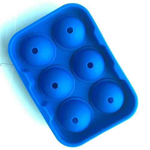 Venus FitzGerald 6 Löcher Silikon Eiswürfel Ball Trinken Wein Tablett Backstein Rund Maker Form Kugel Eishockey Maker dunkelblau