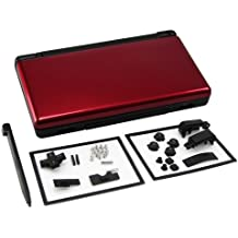 Generic Full Repair Parts Replacement Housing Shell Case Kit Compatible for Nintendo DS Lite NDSL Color Red and Black [Importación Inglesa]