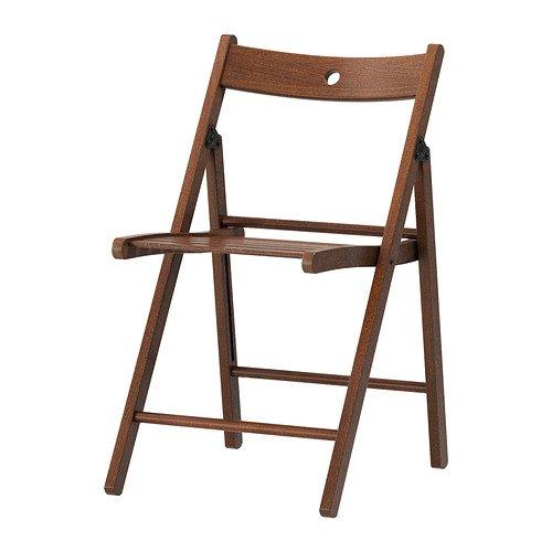 Verdi Chaise pliante en bois Marron