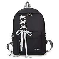 Diving Deep Preppy Style Fashion Waterproof Women Girls Backpack Korean Design Drawstring Chain travel College Office…