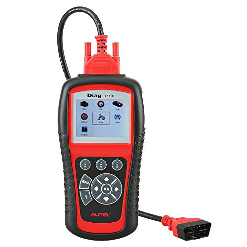 Autel MD diaglink OBD2 - Dispositivo diagnostico Code Reader, Versione DIY del MD802, Tutti i sistemi/Moduli diagnostici per ABS, SRS, Motore, epb, Reset Olio