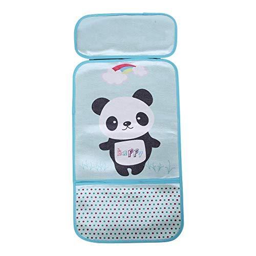 Sommer-Kinderwagen-Eis-Matten-Säuglingskinderwagen-kühles Sitzkarikatur-Muster-Baby-Eis-Seidenkissen(Panda Green)