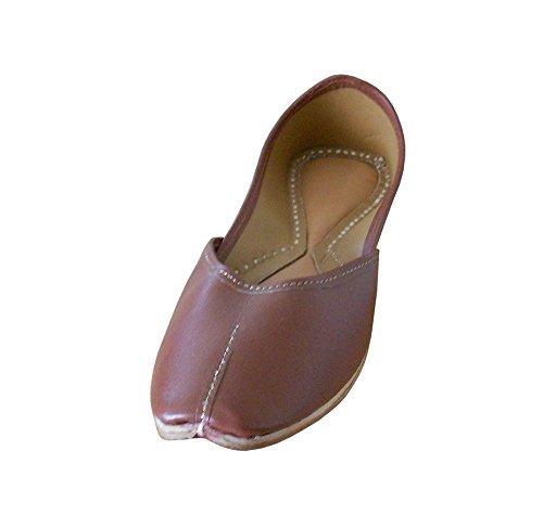 kalra Creations Chaussures de traditionnel indien ethnique synthétique pour femme Marron