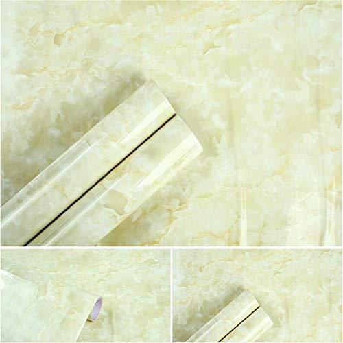 PVC-selbstklebende Tapete und Steinmusteraufkleber imitierendes Marmormuster wasserdichte Wohnwandtapete selbstklebend, F