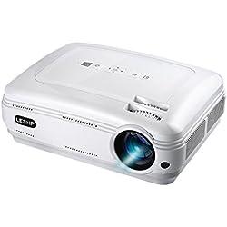 LESHP 720P Projecteur LED Portable Vidéo Projecteur Multimédia Home Cinéma Théâtre Projecteur de Jeu HDMI VGA USB pour Ordinateur Portable TV