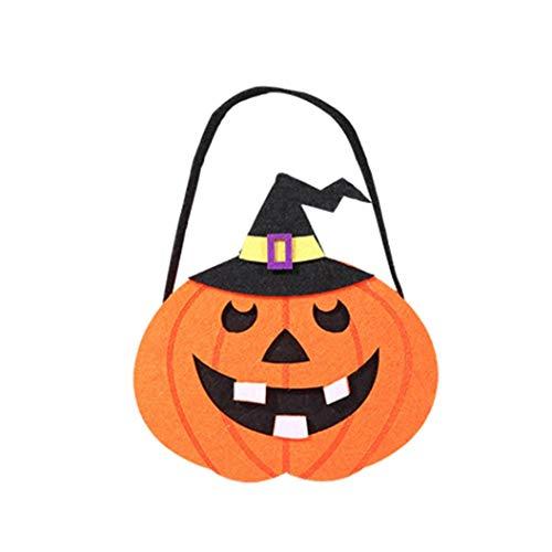 BZLine® Süßigkeiten Lagerung, Halloween-Nette Hexen-Süßigkeits-Tasche, die Kinderpartei-Speicher-Beutel-Geschenk verpackt (G)