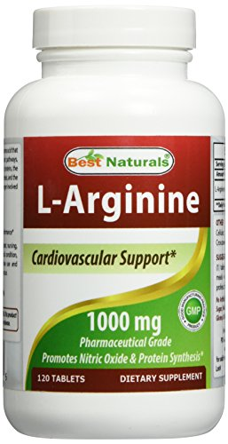 Best Naturals L-Arginine 1000 mg 120 Tablets