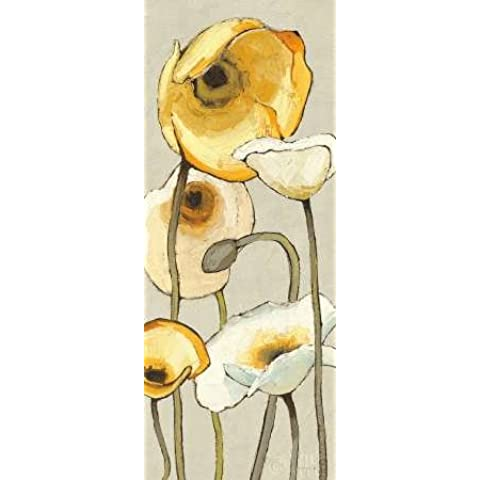Feeling at home, Stampa artistica x cornice - quadro, fine art print, Jaune Gris Panel II cm 102x41
