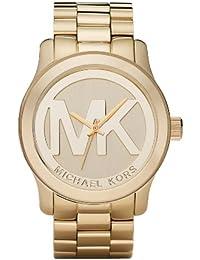 Michaël Kors MK5473 - Reloj analógico de mujer de cuarzo con correa de acero inoxidable dorada