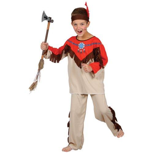 Indianer Wilder Westen Rothaut Verkleidung für Jungen Fasching Karneval Kostüm M