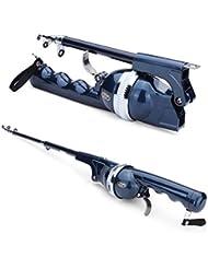 Primi portátil bastones de pesca plegable telescópico varillas de mar traje