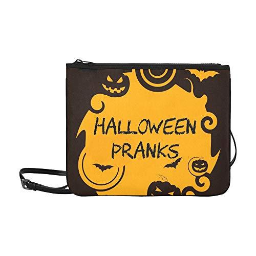 WYYWCY Halloween-Streiche, die Trick-Festlichkeits-Joker-Gewohnheit kundenspezifische hochwertige Nylon-dünne Handtasche Umhängetasche Umhängetasche zeigen