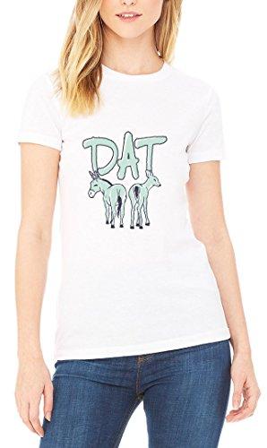 Dat Ass Horse Deer Funny Women's T-shirt Blanc