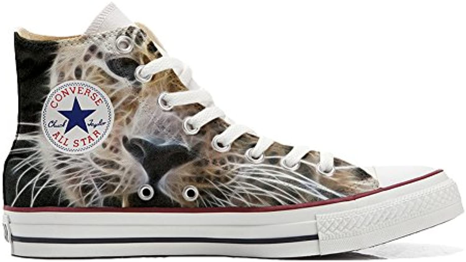 Schuhe Custom Converse All Star  Personalisierte Schuhe (Handwerk Produkt Customized) Tiger Style