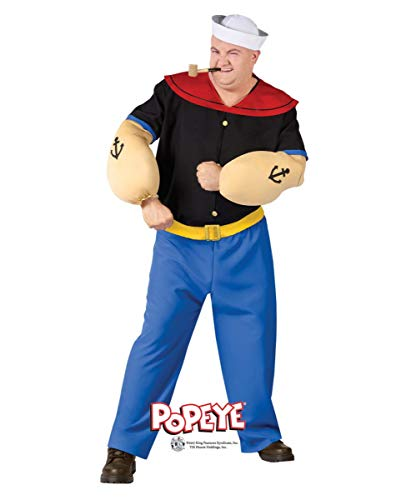 (Horror-Shop Original Popeye Kostüm Plus Size für Fasching X1)