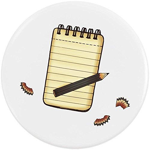 Azeeda 58mm 'Notepad & Pencil' Medium Button Pin Badge (BB00053520)