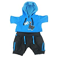 Dinosaur Skater Hoodie & Black Trousers Cuddles Outfit / Teddy Clothes fits 15-16 inch (40cm) Teddies & Build a Bear