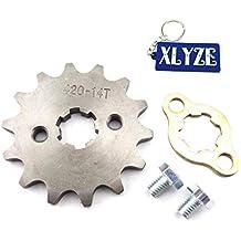 XLYZE 420 14 Tooth 17mm engranaje de piñón de cadena delantera para 50cc 70cc 90cc 110cc