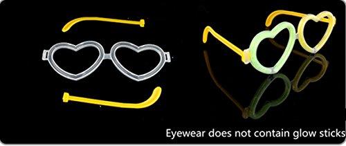 """8 """"Glow Stick Party, couleurs mixtes - Stillshine bricolage bracelets, colliers, kits pour créer des lunettes, des bracelets triples, un bandeau, des boucles d'oreilles, des fleurs, une boule de lueur et plus encore! (Accessories 3(5PCS))"""