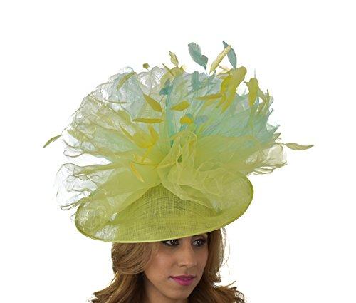 Superbe funadhoo Ascot Derby Bibi Chapeau–avec bandeau–Disponible en 30couleurs Vert - Vert armée