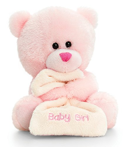 Lashuma Plüschtier Bär, Pipp The Bear Kuscheltier Baby Girl mit Schmusetuch Rosa, Stofftier 14 cm (Rosa Plüschtiere Babys Für)