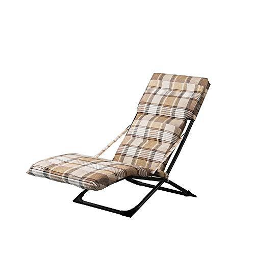 HAIYU- Klappsessel, Verstellbarer Multi-Winkel-Lehnstuhl, Gartenstuhl, Balkonstuhl, Terrassenstuhl, Tragbarer Lehnstuhl, Abnehmbare Matte (Color : Brown)