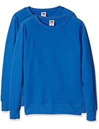 Fruit of the Loom Ladies Lightweight Raglan Sweat, Blouse Femme