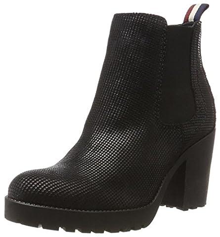 Hilfiger Denim Damen B1385OO 1Z Chelsea Boots, Schwarz (Black), 41 EU