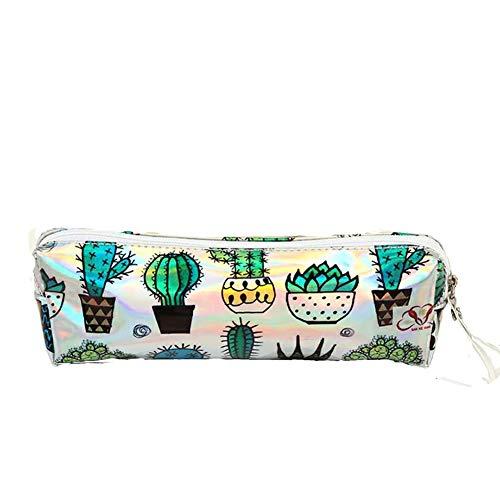 baa0c7a70 Cactus - Estuche para lápices (1 unidad, láser, bolso de maquillaje,  material
