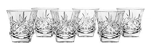 Bohemia Jihlava, Kristallglas Becher, Cortina, für Whisky, Kognak, Wasser und andere Getränke, Double Old Fashioned, 300 ml (Fashioned Old Double Gläser)