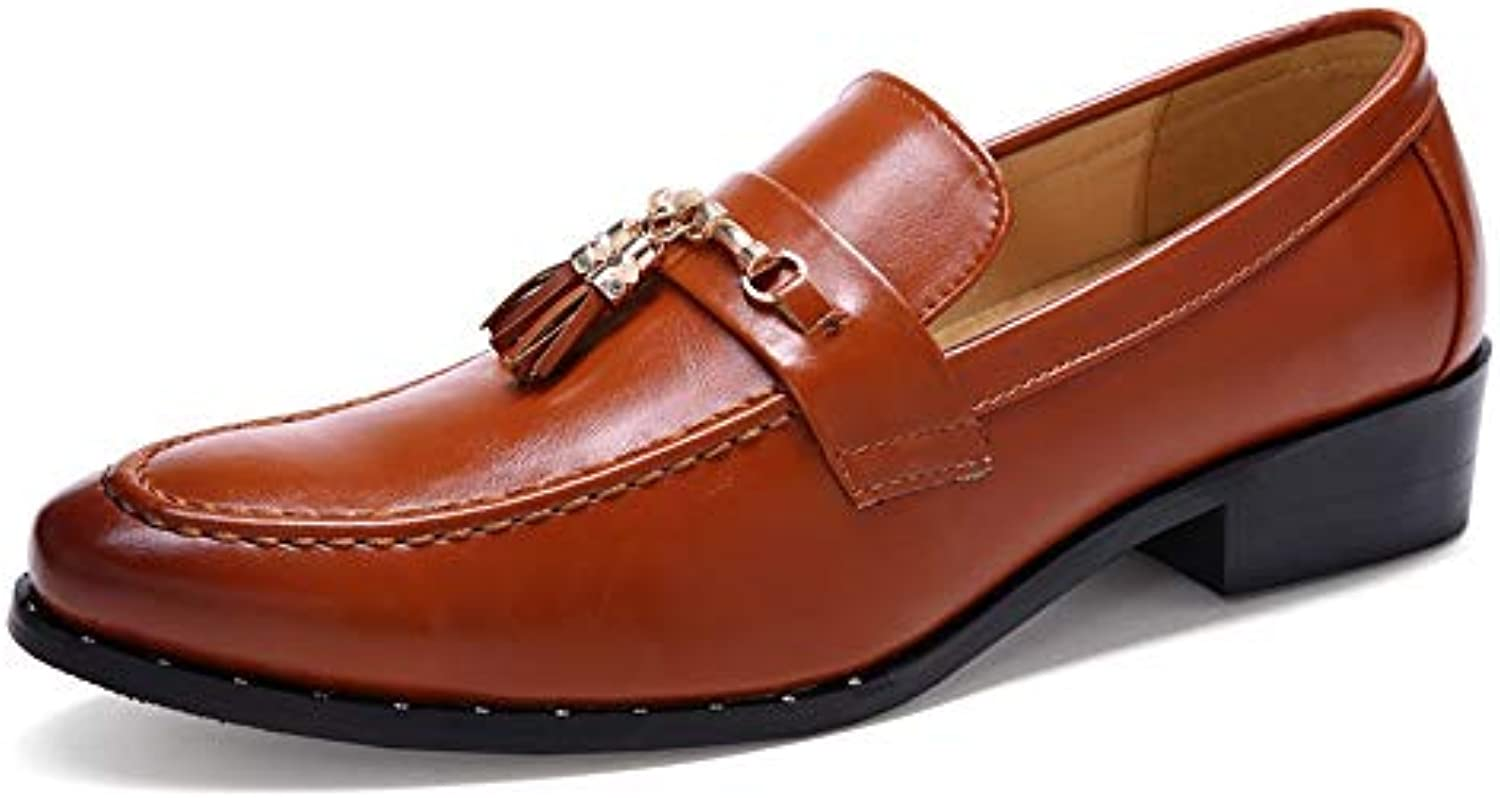 Jusheng Chaussures pour Hommes Oxford décontractées Rond à Bout Rond décontractées et à Bout Rond pour Hommes cdeb97