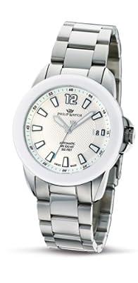Philip Watch R8223194015 - Reloj analógico automático para mujer con correa de acero inoxidable, color plateado de Philip Watch