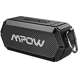 Mpow Enceinte Bluetooth Portable, 16W Haut-Parleur Bluetooth Enceinte sans Fil Bluetooth 4.2, Stéréo et Basse HD, Résistant à l'eau IPX6 pour La Fête au Bord de La Piscine, Plage, Camping, Randonnée