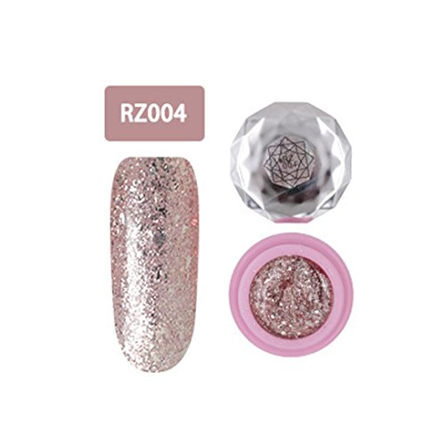 Nagel-Kunst-Gel,Jaminy 12 Farben Che Gel Nagel UV Gel Politur Absaugen Nail Art Decklack Pink Diamond FarbeGel Nagelkunst (D) Nail Schellack Politur