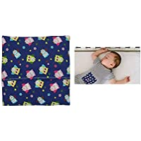 """Saquito térmico""""Búhos"""" para aliviar los cólicos de los bebés – 100% algodón – Interiores rellenos de huesos de cerezas - funda lavable – para microondas"""