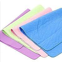 Danigrefinb Thick terry cloth absorbent synthetic leather supplies polishing wax polishing PVA towel car shampoo Random Color 30x40cm