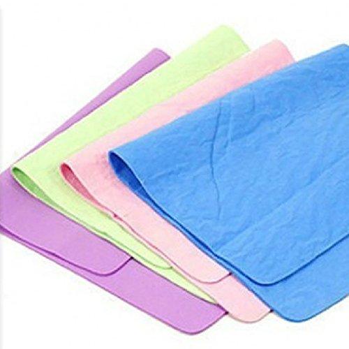 yeshi Auto waschen Handtuch Absorber Synthetik chamois Leder weichen Tuch Haar schnell trocknend Handtuch, Zufällige Farbauswahl, 30x40cm (Trockenen, Weichen Fensterleder)