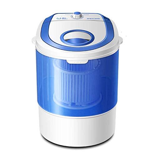 Tragbare Mini-Portable Waschmaschine 7Kg Große Kapazität Top-Loader Single Bath + Blue Light Disinfection, Kompact Waschmaschine Für Home Students, Etc. Weiß (Schwarz) - Top-loader
