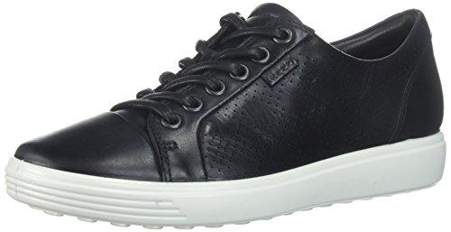 ECCO Women's Women's Soft 7 Tie Fashion Sneaker, Dark Black, 36 EU/5-5.5 M US - Ecco Black Tie