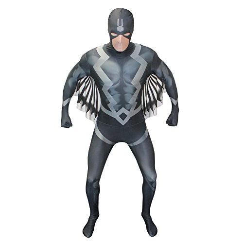 Panther Marvel Black Kostüm Halloween (Morphsuits schwarz Bolt Erwachsene Fancy Dress Kostüm (2 x große) _)