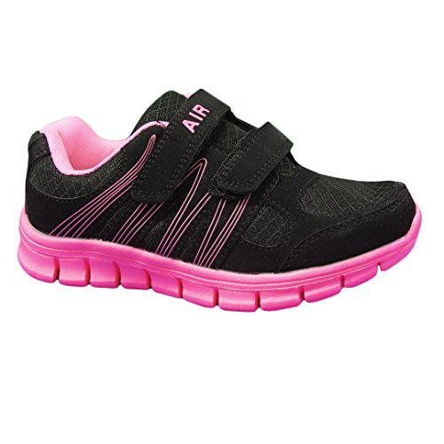Dek Air Sprint Kids Junior Velcro Sports Trainers girls Size 2 UK