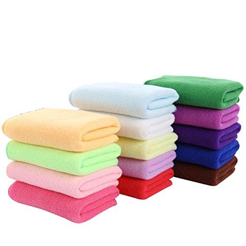 Nunubee Mikrofasertücher Handtücher mit Hoher Wasserabsorption Mikrofaser-Reinigungstücher, Gelegentliche Anlieferung der Farbe