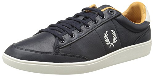 Fred Perry Hopman Leather Navy Blau