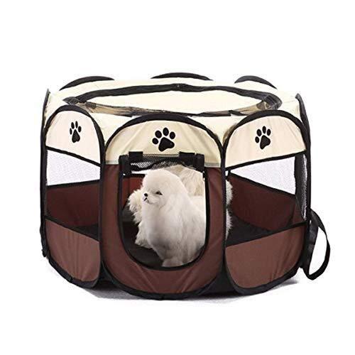 mütlich New Cottage Pet Supplieshousespet Cottagepet Zelt Hundehaus Käfig Hund Katze Zelt Laufstall Welpen Zwinger Einfache Bedienung Achteck weich ()