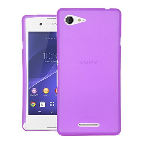 CUBIX® Sony E3 Dual Case, Hard (Semi Transparent) Super Slim Matte Back Cover For Sony Xperia E3 Dual (Purple)  available at amazon for Rs.350