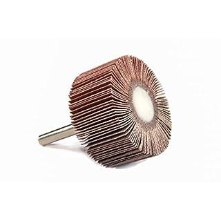 Abtec Lamellenschleifer-Sets, Aluminiumoxid-Schleifmittel, verschiedene Körnungen, verschiedene Durchmesser, 50mm x 30mm x 6mm, 0