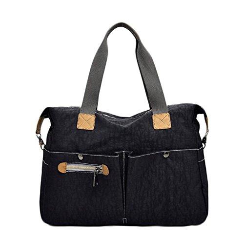 Big Bag Borsa A Tracolla Borsa Di Tela La Signora Sacchetto Di Oxford Borse Di Stoffa Di Nylon Messenger Bag Semplice Black